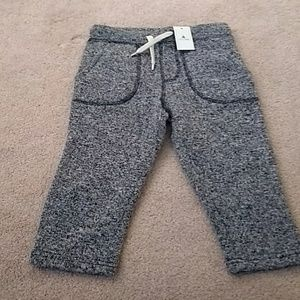 Boys 2T GAP fleece lined grey pants- nwt!